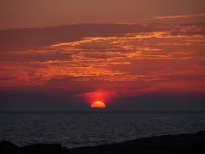lever de soleil, Aran Islands, Inishere.